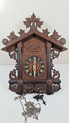 Large Antique Railroad Cuckoo Clock    Black Forest Cuckoo Clock