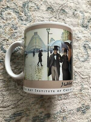 Art Institute of Chicago Souvenir Coffee Mug Masterpiece Collection Vintage 1993