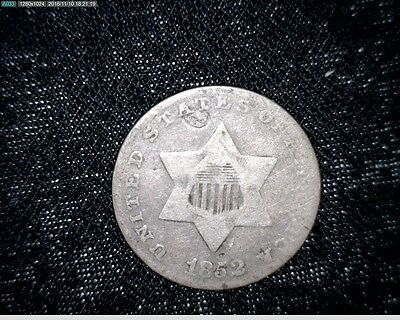 1852 3 Cent Silver Trime #3392