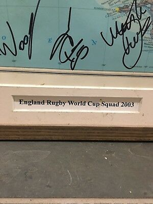Signed england rugby world cup 2003 Framed Map