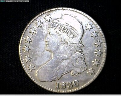 1830 Capped Bust Silver Half Dollar #389