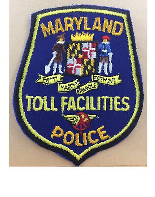 Maryland Toll Facilities Police Shoulder Patch Md