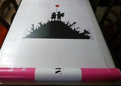 BANKSY - KIDS ON GUNS - Exhibition Poster- affiche  Edition Moco Museum 84x54