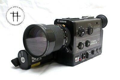 Canon 1014 XL-S Super 8 8mm film movie camera, great features, tested/warranty