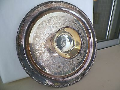 Rogers 15'' Silverplated Chip'n Dip Silverplated Tray Pre Owned/unused