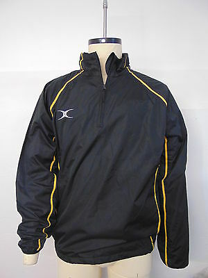 Clearance Line New Gilbert Rugby Storm Shower Jacket Black Amber Large
