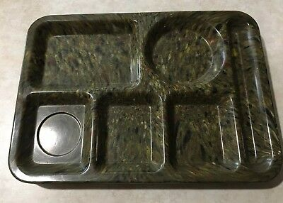 "Texas Ware 14"" X 10"" Speckled Confetti LUNCH TRAYS Set of 3 #146"