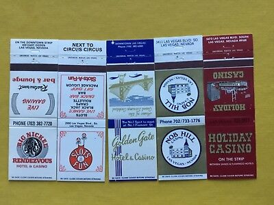 Vintage LAS VEGAS CASINOS Matchbook Covers, Nice Lot of 5 Priced To Sell! NMINT!