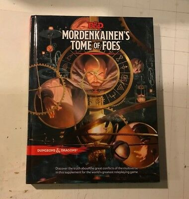 MORDENKAINEN'S TOME OF FOES 5th 5e D&D DnD NEW Hardcover Dungeons RPG book manua