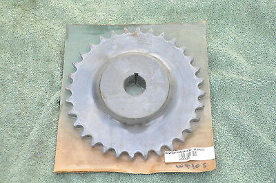 """Sprocket 32 Tooth .75"""" Bore  60 single Roller Chain .750 pitch 1/4"""" Keyway"""