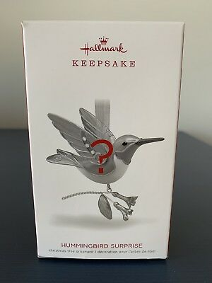 Hallmark Keepsake 2018 HUMMINGBIRD SURPRISE Blue/Green/Purple 2018 Beautiful!