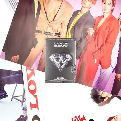 [EXO]5th Repackage Album-Love Shot/Love version/New, Sealed/Poster Option