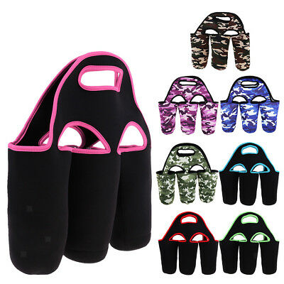 Insulated 3 Pack Beer Carrier Thick Neoprene Cooler Bag Tote Camping Hiking