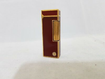 Gold plated vintage Dunhill lighter working