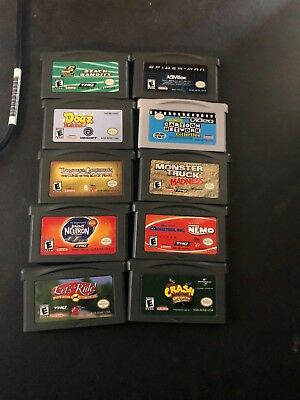 lot of 10 gameboy advance games