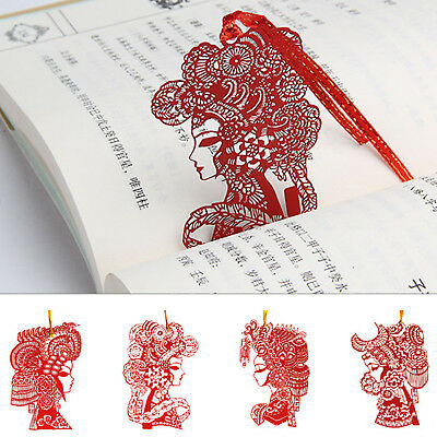 Chinese Paper-cut shaped Bookmark Metal Magazine Note Book Mark Label Gifts New