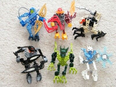 Lego Bionicle 6 Assembled Small GLATORIAN AGORI figures 8972-8977 Matoran?
