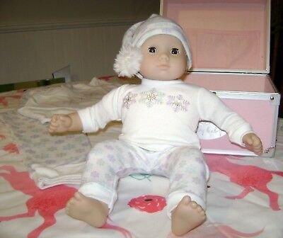 480c172aa AMERICAN GIRL BITTY Baby Starter Trunk White Gown Bonnet Pink Shoes ...