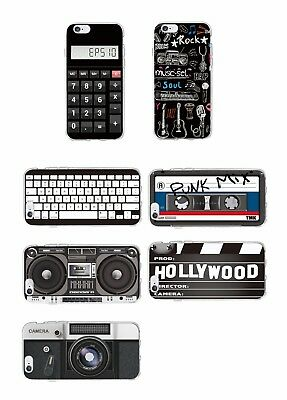 Retro Camera Cassette Tape Calculator Keyboard Phone Case for iPhone and Samsung