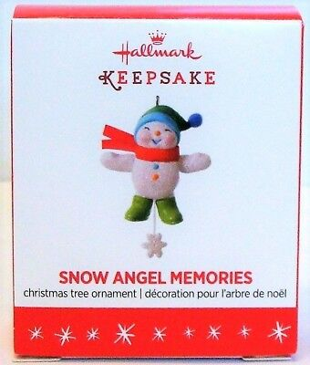 2016 Hallmark Keepsake Snow Angel Memories Miniature Snowman Christmas Ornament