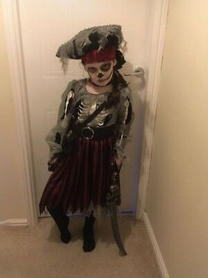 Girls Ghost Pirate Halloween Outfit won best dressed age 7-8