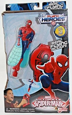 RARE New Marvel Flying Heroes ULTIMATE SPIDER-MAN Real Flying ACTION in Box!!