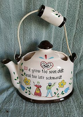 "VTG.""Norcrest"" Teapot Wall Pocket; Made in Japan;P-78;AMISH""TO OLD & TO LATE"""
