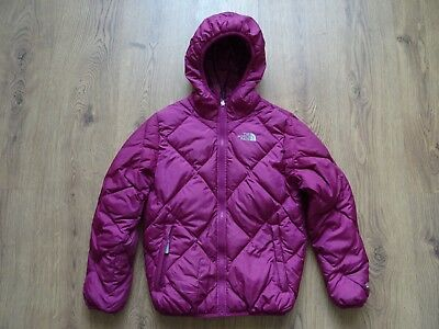 The North Face Goose Down Reversible Jacket Coat For Girls Size M (10/12)