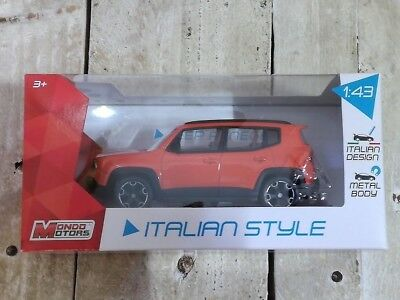 Mondo Motors - Jeep Renegade Arancio - Scala 1/43 *