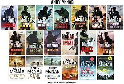 Andy McNab's  NICK STONE the full complete collection set   all the 19 Hardbacks