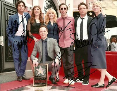Big Bang Theory Cast  8 By 10 Inch Full Gloss Signed Picture  C.o.a.