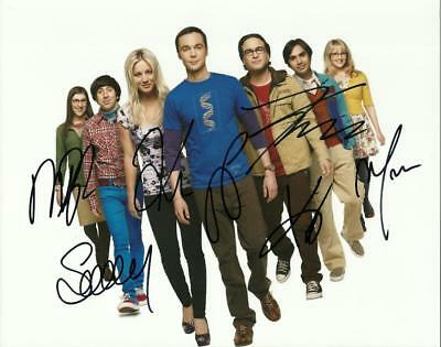 The Big Bang Theory Cast  8 By 10 Inch Full Gloss Signed Picture  C.o.a.