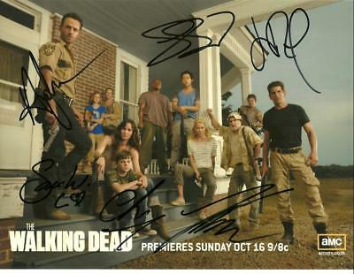 Walking Dead  Cast 8 By 10 Inch Full Gloss Signed Picture  C.o.a.
