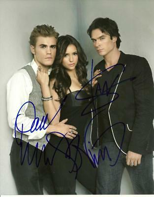 The Vampire Diaries  Cast 8 By 10 Inch Full Gloss Signed Picture  C.o.a.