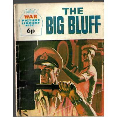 WAR PICTURE LIBRARY #863 The Big Bluff 1973 Print Run Comic Battle Books UK