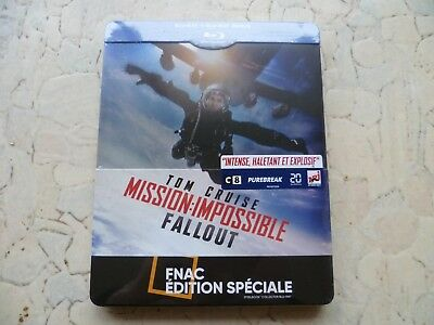 Mission Impossible Fallout Blu-ray Steelbook Fnac Exclusive [FRANCE]
