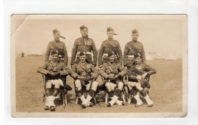 Photograph of Black Watch soldiers at camp (C39771)