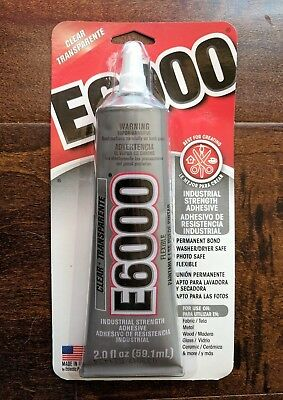 44eb8bbec636 E6000 INDUSTRIAL STRENGTH Clear Glue Craft Adhesive 3.7 Oz -  8.39 ...
