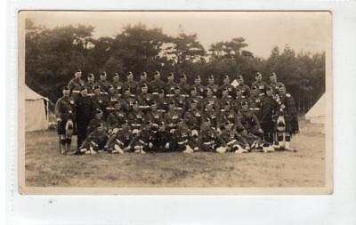 Photograph of Black Watch soldiers at camp (C39768)