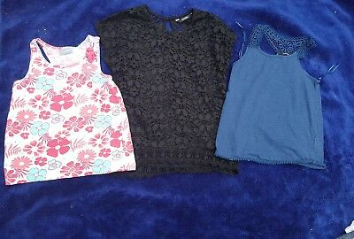 Girls 6-7 Years Bundle vest Tops t-shirts floral crochet Smart Summer Next Day