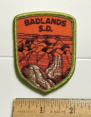 Badlands National Park South Dakota SD Souvenir Embroidered Patch Badge