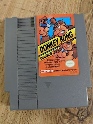 Donkey Kong Classics (Nintendo NES 1988) Cleaned Tested Works 100% Free Shipping