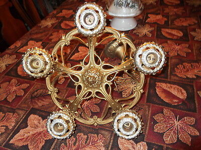 Beautiful antique 5 bulbs ceiling light fixture