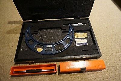Moore and wright Mitutoyo 150-175mm micrometer w/setting gauge