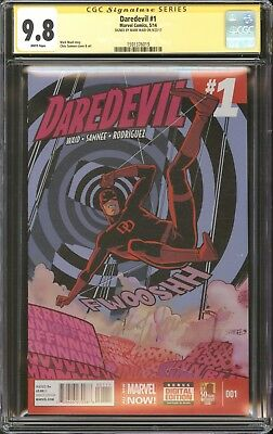Daredevil #1 CGC 9.8 SS Signed Mark Waid Marvel Now! 2014 Movie Netflix NM/MT