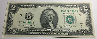United States 2009 Two Dollars Note - F09043506A