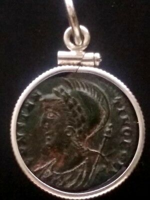 Constantine Great Genuine Victory Ancient Roman Coin Sterling Silver Pendant #7