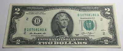United States 2013 Two Dollars Note - B10708180A