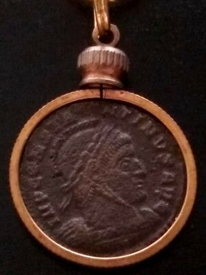 Constantine Great Genuine AE3 Ancient Roman Coin Altar/2 Victory Pendant Lot #3