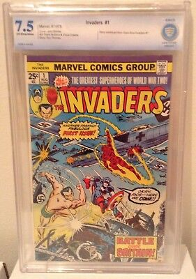 THE INVADERS #1 CBCS (7.5) KEY ISSUE Captain America Sub-Mariner, Human Torch !!